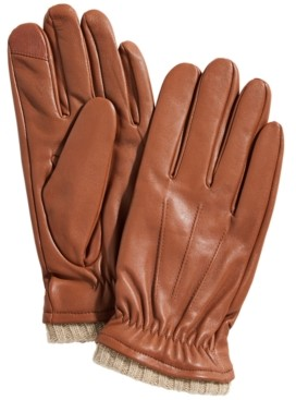 Club Room Men's Leather Gloves, Created for Macy's