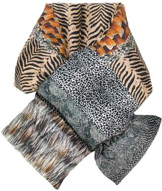 Pierre Louis Mascia animal-print quilted scarf
