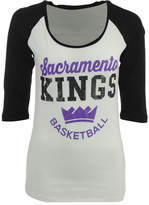 5th & Ocean Women's Sacramento Kings Side Zone Raglan T-Shirt
