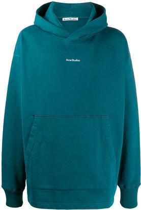 Acne Studios Logo Print Hooded Sweatshirt