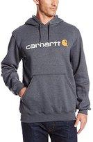 Carhartt Men's Big & Tall Signature Logo Midweight Sweatshirt Hooded Original Fit