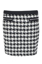 Select Fashion Fashion Womens Grey Wool Dogtooth Mini Skirt - size 14