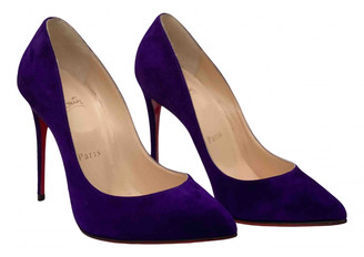 Christian Louboutin So Kate Purple Suede Heels