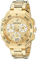 Versace Men's VQC040015 DYLOS CHRONO Analog Display Swiss Quartz Gold Watch