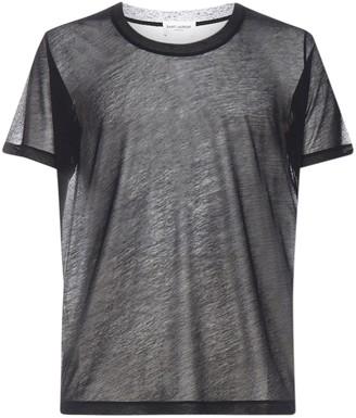 Saint Laurent Scoop-Neck Sheer T-Shirt