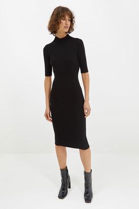 SABA Ally Wool Rib Knit Midi Dress