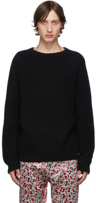 Haider Ackermann Black Ribbed Sweater