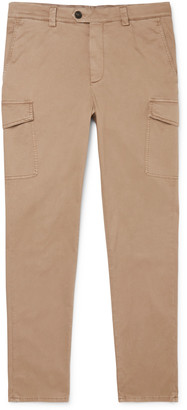 Brunello Cucinelli Slim-Fit Stretch-Cotton Twill Cargo Trousers - Men - Neutrals
