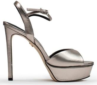 Lola Cruz Louth Navy Metallic Sandals