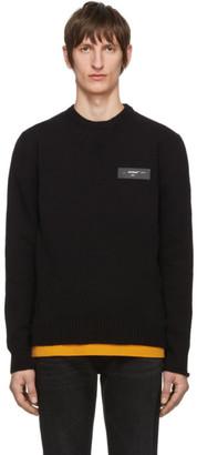 Off-White Black Knit Logo Sweater
