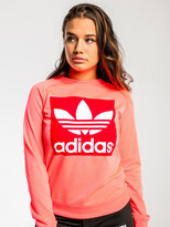 adidas Trefoil Crew Sweater in Flash Red
