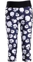 Lady Queen Women's Skull Printed Fitness Knee-length Capri Pants L