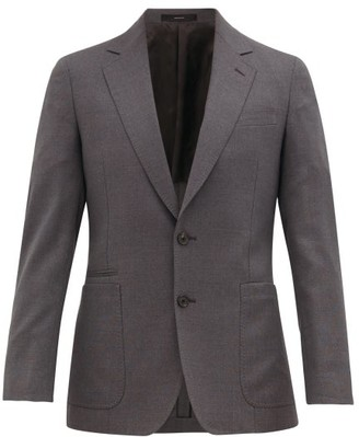 Paul Smith Slim-fit Virgin-wool Blazer - Mens - Grey