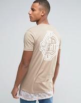 Asos Star Wars Super Longline T-Shirt With Camo Hem Extender