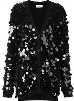 Sonia Rykiel sequined cardigan - women - PVC/Virgin Wool - S
