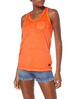 Superdry Women's Burnout Pocket Vest Kniited Tank Top Sleeveless Kniited Tank Top,(Manufacturer Size: )