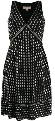 MICHAEL Michael Kors Georgette stud-embellished dress