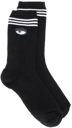 Chiara Ferragni Logo Knit Ankle Socks