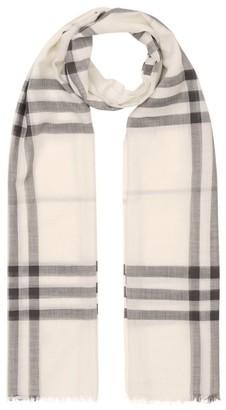 Burberry Lightweight Wool-Silk Check Scarf