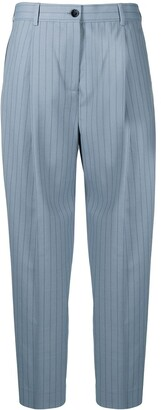 Acne Studios Pinstripe Cropped Trousers