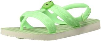 Havaianas Unisex Kids Joy Spring Sandal White/Hydro Green 33/34 BR (3-4 M US Little