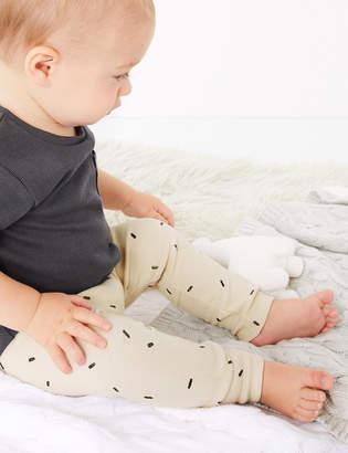 Marks and Spencer Organic Cotton Dash Print Leggings