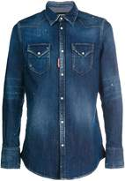 DSQUARED2 washed effect denim shirt