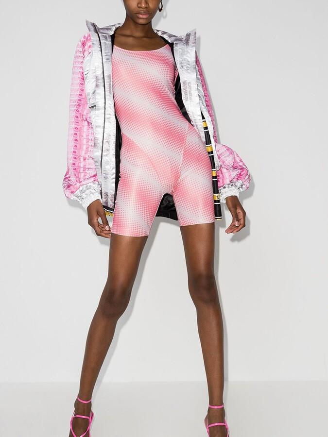 Thumbnail for your product : MAISIE WILEN Pink Diagonal Print Bodysuit