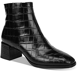 Via Spiga Women's Sahira Croc-Embossed Booties