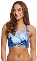 Carmen Marc Valvo Gilded Garden High Neck Bikini Top 8160386