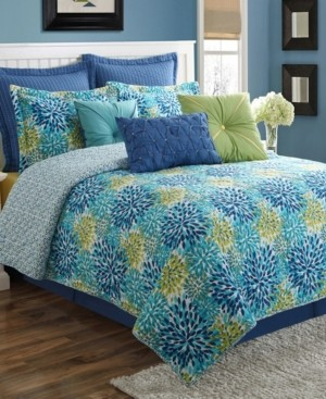 Fiesta Calypso 4-Piece Floral Quilt Set - Full Bedding