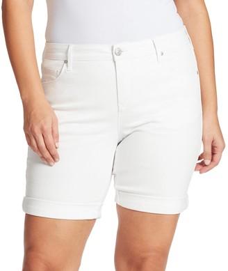 Gloria Vanderbilt Plus Size Rolled-Cuff City Shorts