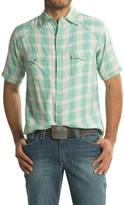 Ryan Michael Ombre Plaid Shirt - Snap Front, Short Sleeve (For Men)