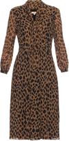Burberry Liv leopard-print silk-chiffon dress