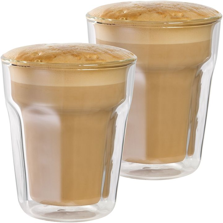 Baccarat Facet Double Wall Latte Glass, 236ml (Set of 2)