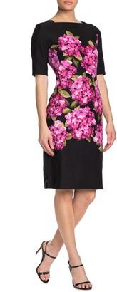 Gabby Skye Floral Printed Square Neck Dress