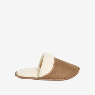 Joe Fresh Men's Fold-Over Slippers, Tan (Size XL)