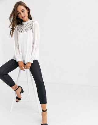 Lipsy lace pleated top