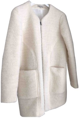 By Zoé Ecru Wool Coat for Women