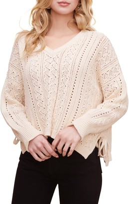 ASTR the Label Open Weave Pullover