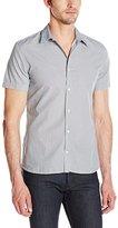 J. Lindeberg Men's Dani Short Sleeve Button Down Shirt