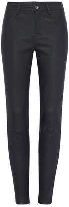 West 14th Houston High Rise Legging Black Stretch Leather