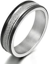 Gemini Custom Women's Muti Tone Promise Anniversary Couple Wedding Titanium Ring width 4mm US Size 5 Valentine's Day Gift