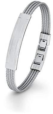S'Oliver Mens Stainless Steel 21.5 cm - Bracelet Adjustable Snap Closure 566445