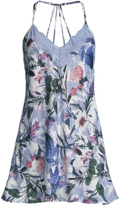 In Bloom Michelle Floral Lace-Trim Chemise