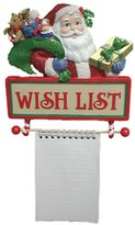 "Kurt Adler Santa's ""Wish List"" Notepad Wall Christmas Decoration"