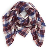 David & Young Plaid Square Scarf