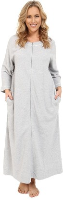 Carole Hochman Women's Plus-Size Plus Size Waffle Knit Zip Robe