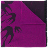 McQ by Alexander McQueen swallow print scarf - unisex - Polyamide/Wool - One Size