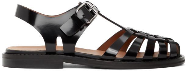 Marni Black Cut-Out Sandals